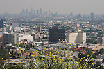 View of Hollywood and Downtown Los Angeles from Runyon Canyon Park, Hollywood, CA
