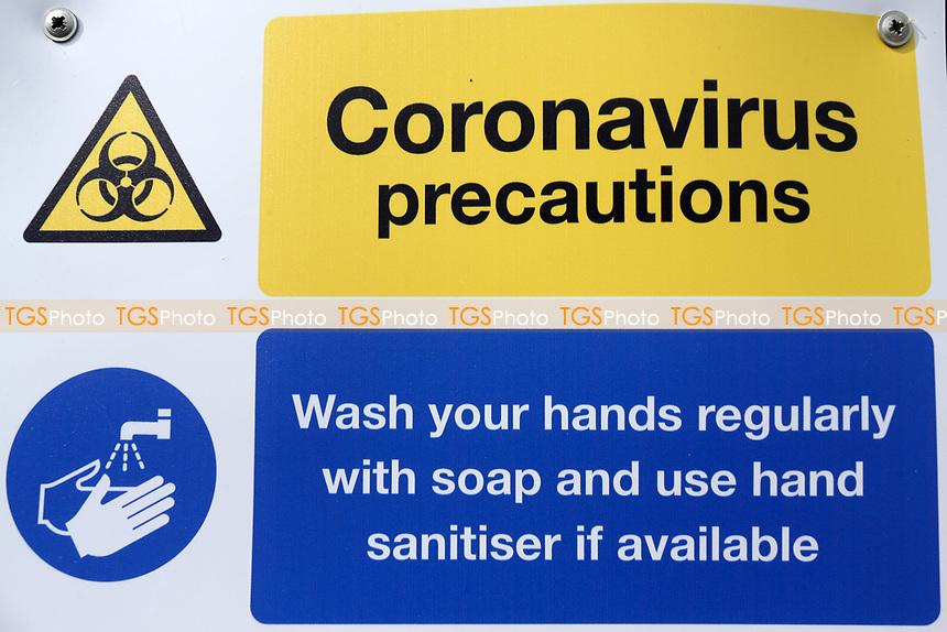 General view of Coronavirus Precautions signage ahead of Essex CCC vs Nottinghamshire CCC, LV Insurance County Championship Group 1 Cricket at The Cloudfm County Ground on 6th June 2021