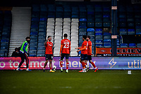 9th January 2021; Kenilworth Road, Luton, Bedfordshire, England; English FA Cup Football, Luton Town versus Reading; George Moncur of Luton Town celebrates his goal with team mates for 1-0 in the 30th minute