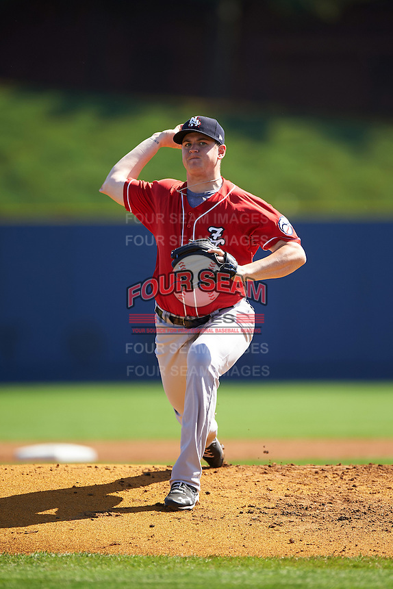 New Hampshire Fisher Cats starting pitcher Jeremy Gabryszwski (32) during a game against the Reading Fightin Phils on June 6, 2016 at FirstEnergy Stadium in Reading, Pennsylvania.  Reading defeated New Hampshire 2-1.  (Mike Janes/Four Seam Images)