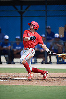 Philadelphia Phillies Hunter Hearn (22) at bat during an Instructional League game against the Toronto Blue Jays on September 27, 2019 at Englebert Complex in Dunedin, Florida.  (Mike Janes/Four Seam Images)
