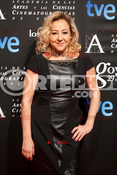 Carmen Machi poses before the 2015 Goya Awards nominee ceremony in Madrid, Spain. January 19, 2015. (ALTERPHOTOS/Victor Blanco)