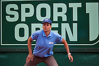 10-07-13, Netherlands, Scheveningen,  Mets, Tennis, Sport1 Open, day three, Lineswoman<br /> <br /> <br /> Photo: Henk Koster