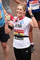 Jenni Falconer<br /> at the finish of the London Marathon 2019, Greenwich, London<br /> <br /> ©Ash Knotek  D3496  28/04/2019