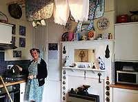 BNPS.co.uk (01202 558833)<br /> Pic: LorettaSkelton/HostUnusual<br /> <br /> The interior has been kept traditional - broom and wrinkled stockings are optional...<br /> <br /> Fans of TV sitcom Last of the Summer Wine are booking out the iconic cottage where unlikely sex symbol Nora Batty lived after it has been turned into a holiday let.<br /> <br /> The exterior of the terraced house in Holmfirth, West Yorks, featured in dozens of episodes of the much-loved BBC show.<br /> <br /> Yorkshire battleaxe Nora Batty - played by the late actress Kathy Staff - was more often than not filmed sweeping the steps of the two bedroom cottage and chasing off the unwanted attentions of Bill Owen's character Compo.<br /> <br /> In real life the property - 28 Huddersfield Road - is owned by Richard and Loretta Skelton who run it as a successful self-catering holiday home.