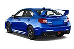 Car pictures of rear three quarter view of a 2017 Subaru WRX STI Sport Premium 4 Door Sedan angular rear