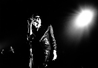 April 9, 1987 File Photo, Alain Bashung in concert at the spectrum