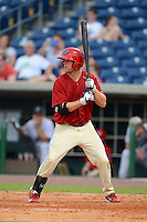 Clearwater Threshers third baseman Matt Tolbert (17) during a game against the Jupiter Hammerheads July 21, 2013 at Bright House Field in Clearwater, Florida.  Jupiter defeated Clearwater 1-0.  (Mike Janes/Four Seam Images)