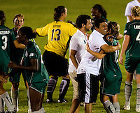 St. Louis Athletica coach Jorge Barcellos after a WPS match at Anheuser Busch Soccer Park, in St. Louis, MO, July 22 2009. Athletica won the match 1-0.