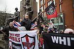 "© Joel Goodman - 07973 332324 . 28/03/2015 . Manchester , UK . Approximately 100 neo-Nazis gather in Manchester for "" White Pride Worldwide day "" . Photo credit : Joel Goodman"