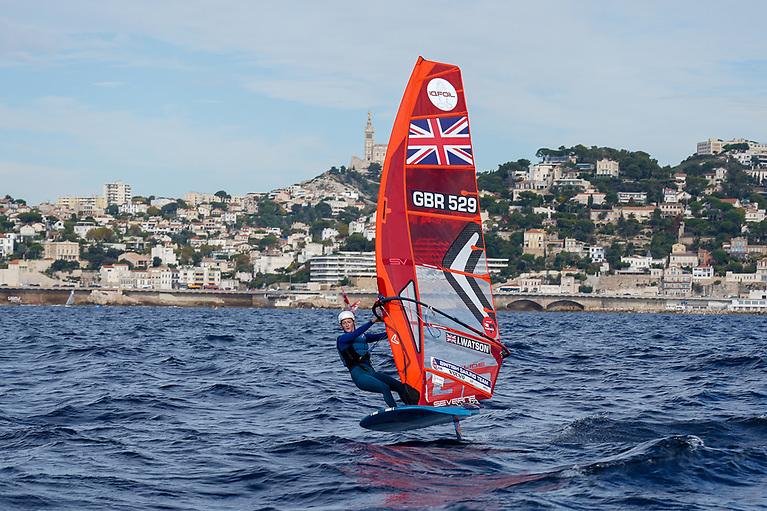 GBR's Islay Watson third in the women's fleet of 68 sailors