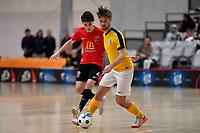 Michael Plim of Capital during the Men's Futsal SuperLeague, Canterbury United Futsal Dragons v Capital Futsal at ASB Sports Centre, Wellington on Saturday 31 October 2020.<br /> Copyright photo: Masanori Udagawa /  www.photosp ort.nz