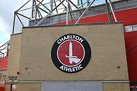 The Club Crest on the outside of The Valley, home of Charlton Athletic during Charlton Athletic vs Reading, Sky Bet EFL Championship Football at The Valley on 11th July 2020