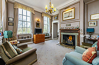 BNPS.co.uk (01202 558833)<br /> Pic: KnightFrank/BNPS<br /> <br /> Pictured: A living room.<br /> <br /> A spectacular Georgian mansion that was home to an eccentric and legendary poet during the war is on the market for £10.5m.<br /> <br /> Grade II* Listed South End House was home to Walter de la Mare in the 1940s and the writer was reprimanded for failing to observe the blackout during the Second World War.<br /> <br /> The impressive property is in a prime location on an exclusive cul-de-sac with incredible park views and glimpses of the Thames.<br /> <br /> On one occasion during the war, police rowed across the river to complain his upper windows were beaconing to the far bank.