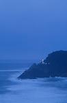 Heceta Head Lighthouse at Devils Elbow State Park, Oregon coast, USA.  .#2308-0719