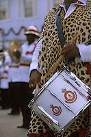 Iles Bahamas / New Providence et Paradise Island / Nassau: Défilé et fète populaire lors de la Fanfare de la Royal Bahamas Police Force Band lors de l'ouverture de la session de la cour suprème à Rawson Square