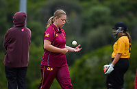 Action from the Wellington women's Maureen Peters T20 competition cricket match between Wellington Collegians and Upper Hutt at Grenada North Park in Wellington, New Zealand on Saturday, 6 March 2021. Photo: Dave Lintott / lintottphoto.co.nz