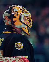 Andy Moog Boston Bruins. Photo F. Scott Grant
