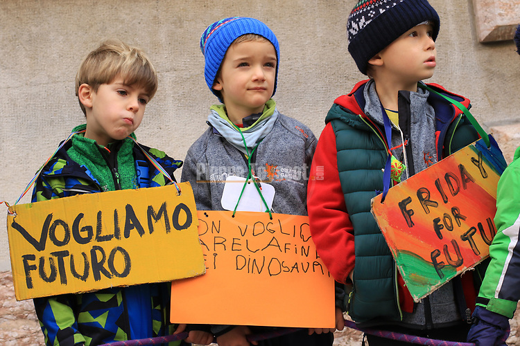 Fridays For Future rally on 29/11/2019 in Trento, Italy. <br /> © Pierre Teyssot