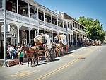 Days of '49 wagon train on Main Street, Sutter Creek, Calif.