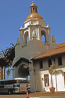 Mission RR Stations: Santa Fe Depot, San Diego. Photo '97--from across Kettner Blvd.