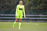 goalkeeper Lisa Lichtfus (16 Standard) pictured during a female soccer game between Standard Femina de Liege and Dames SV Zulte Waregem on the fifth matchday of the 2020 - 2021 season of Belgian Scooore Womens Super League , saturday 17 th of October 2020  in Angleur , Belgium . PHOTO SPORTPIX.BE | SPP | STIJN AUDOOREN