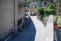 peloton on the first climb of the day: the Colle Gallo<br /> <br /> 114th Il Lombardia 2020 (1.UWT)<br /> 1 day race from Bergamo to Como (ITA/231km) <br /> <br /> ©kramon