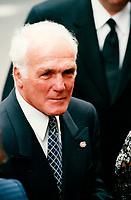 Henri Richard aux Funerailles de Maurice Richard<br /> , mai 2000<br /> <br /> <br /> PHOTO : Agence Quebec Presse