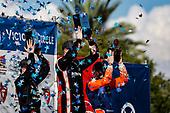 #5 Pato O'Ward, Arrow McLaren SP Chevrolet, #1 Josef Newgarden, Team Penske Chevrolet, #9 Scott Dixon, Chip Ganassi Racing Honda, podium