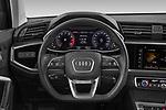 Car pictures of steering wheel view of a 2021 Audi Q3 S-line 5 Door SUV Steering Wheel