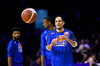Troy McLean of the Wellington Saints warms up before the NBL match between the Wellington Saints and the Auckland Huskies at TSB Bank Arena, Wellington, New Zealand on Friday 28 May 2021.<br /> Photo by Masanori Udagawa. <br /> www.photowellington.photoshelter.com