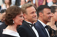 JACQUELINE BISSET, JEREMIE RENIER AND DIRECTOR FRANCOIS OZON - RED CARPET OF THE FILM 'L'AMANT DOUBLE' AT THE 70TH FESTIVAL OF CANNES 2017