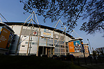 An exterior view of the KCOM Stadium. Hull 2 Sunderland 2, League One 20th April 2021.