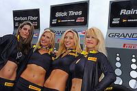Pirelli Girls brave the rain.