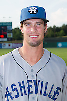 David Dahl (21) of the Asheville Tourists poses for a photo prior to the game against the Kannapolis Intimidators at CMC-NorthEast Stadium on July 12, 2014 in Kannapolis, North Carolina.  The Tourists defeated the Intimidators 7-5 in 15 innings.  (Brian Westerholt/Four Seam Images)