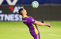 CARSON, CA - SEPTEMBER 06: David Bingham #1 GK of the Los Angeles Galaxy traps the ball during a game between Los Angeles FC and Los Angeles Galaxy at Dignity Health Sports Park on September 06, 2020 in Carson, California.