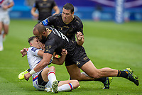 22nd August 2020; The John Smiths Stadium, Huddersfield, Yorkshire, England; Rugby League Coral Challenge Cup, Catalan Dragons versus Wakefield Trinity; Alex Walker of Wakefield Trinity is tackled by Sam Kasiano of Catalan Dragons