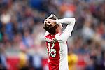 Nederland, Amsterdam, 19 april 2015<br /> Eredivisie<br /> Seizoen 2014-2015<br /> Ajax-NAC Breda (0-0)<br /> Teleurstelling bij Lucas Andersen van Ajax