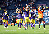 Sunday 01 September 2013<br /> Pictured L-R: Swansea players Chico Flores, Jonjo Shelvey and Michel Vorm thank their supporters after the and of the game.<br /> Re: Barclay's Premier League, West Bromwich Albion v Swansea City FC at The Hawthorns, Birmingham, UK.