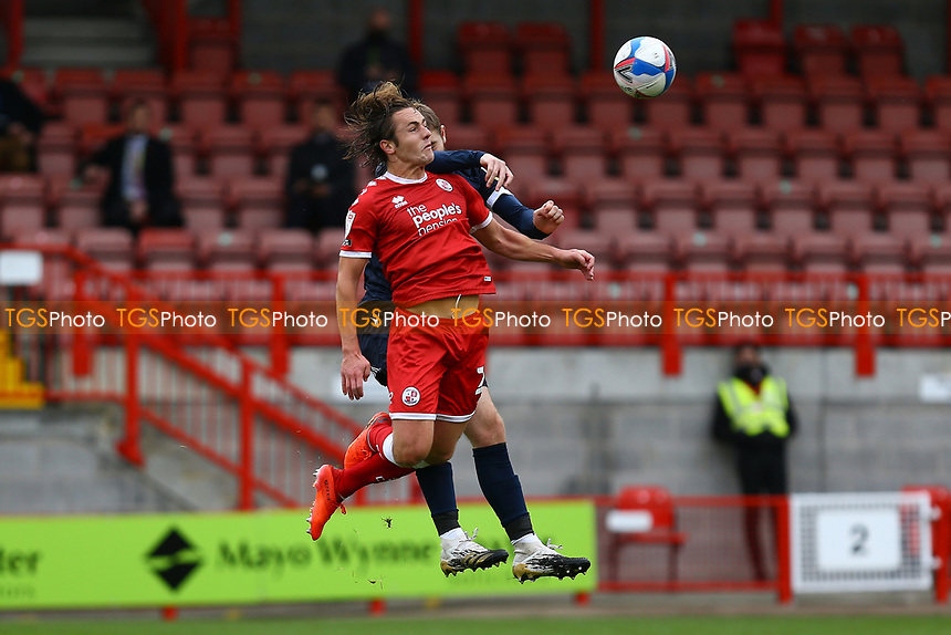 Rayan Cooney of Morecambe and Sam Matthews of Crawley Town during Crawley Town vs Morecambe, Sky Bet EFL League 2 Football at Broadfield Stadium on 17th October 2020