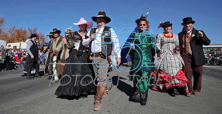 Members of the Mayfield Gang participate in the 75th annual Nevada Day parade in Carson City, Nev., on Saturday, Oct. 26, 2013.<br /> Photo by Cathleen Allison