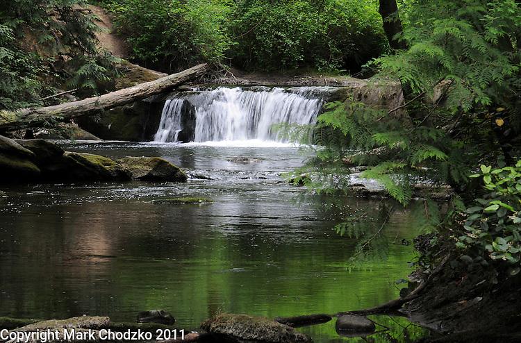Peaceful waterfall in Washington.