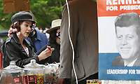 NEW YORK, NY - April 29: Rachel Brosnahan  on set of The Marvelous Mrs. Maisel at Washington Square Park in New York City on April 29, 2021. <br /> CAP/MPI/RW<br /> ©RW/MPI/Capital Pictures