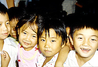 Children posing for their picture in Guilin China.