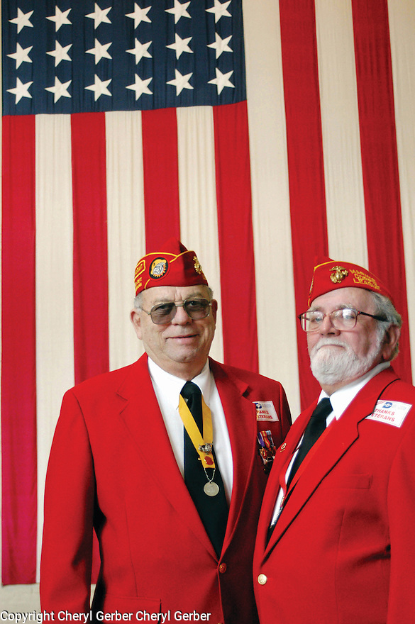 Veterans Don Lassere and Stanley DiGiovanni at the National WWII Museum, Veterans Day, 2003