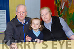 Kathleen with her grand parents Tim and Catherine O'Brien at St Olivers NS grandparents day on Wednesday