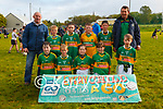 Every Child Gets a Go Blitz: The Moyvane U/10 team with their mentors Pat O'Keeffe & Dermot Mulvihill at the Every Child gets a Go Blitz in Moyvane GAA grounds on Sunday last.