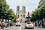 The publicity caravan ahead of the race during Stage 3 of the 2019 Tour de France running 215km from Binche, Belgium to Epernay, France. 8th July 2019.<br /> Picture: ASO/Thomas Maheux | Cyclefile<br /> All photos usage must carry mandatory copyright credit (© Cyclefile | ASO/Thomas Maheux)