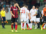 Spartak Trnava v St Johnstone...07.08.14  Europa League Qualifier 3rd Round<br /> Gary Miller at full time<br /> Picture by Graeme Hart.<br /> Copyright Perthshire Picture Agency<br /> Tel: 01738 623350  Mobile: 07990 594431