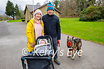 Enjoying a stroll in the Killarney National park on Sunday, l to r: Fiola Foley, Líle and Sean O'Reilly and Zoe the dog.
